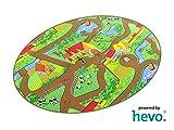 Mein Dorf HEVO ® Strassen Spielteppich   Kinderteppich 125x195 cm Ellipse