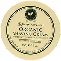 Taylor of Old Bond Street Organic Shaving Cream Bowl, Crema de afeitar orgánico, 150 g