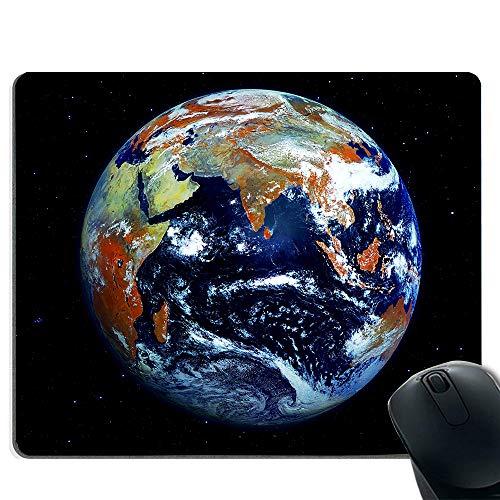 Spiel Mauspad Design natürlichen Eco Gummi langlebig Computer Schreibtisch Schreibwaren Zubehör Maus Pad Geschenk Unterstützung verdrahtete drahtlose oder Bluetooth-Maus (Erde Land Zuordnung) (Stabilisierung Unterstützung)
