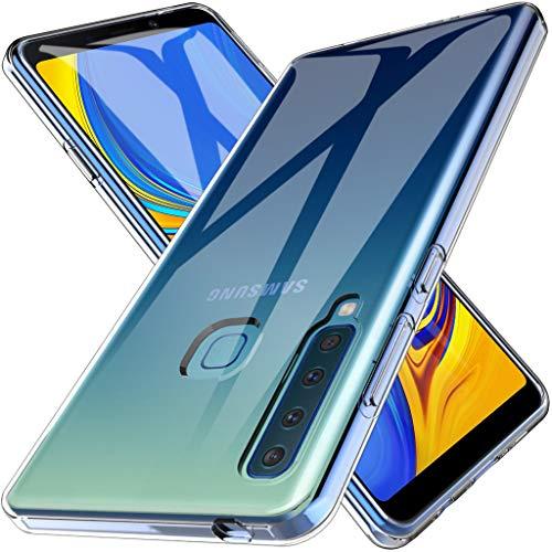 LK Hülle für Samsung Galaxy A9 2018, Ultra Schlank Dünn TPU Gel Gummi Weiche Haut Silikon Anti-Kratzer Schutzhülle Abdeckung Case Cover für Samsung Galaxy A9 2018 (Schwarz)