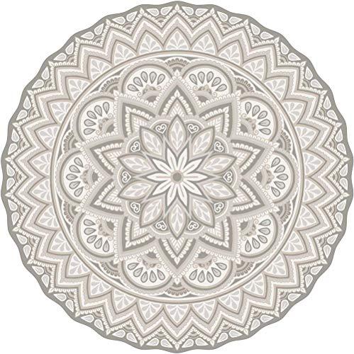 contento Tapis intérieur extérieur en Vinyle Mandala 145 cm