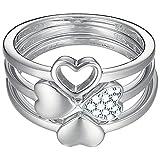 ESPRIT Essential Damen-Ring 925 Silber rhodiniert Zirkonia transparent
