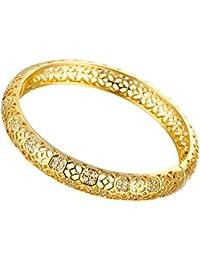 Dilanca placcato in oro rosa 18 k, con pietre multicolore, a forma di braccialetti Bangle