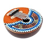 #2: Thumb Piano, 7 Key Coconut Shell Portable Thumb Piano Tuneable Kalimba Mbira African Finger Musical Instrument for Children Adult