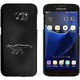 Negro 'Dinosaurio con Punta' Funda / Carcasa para Samsung Galaxy S7 (MC00019155)