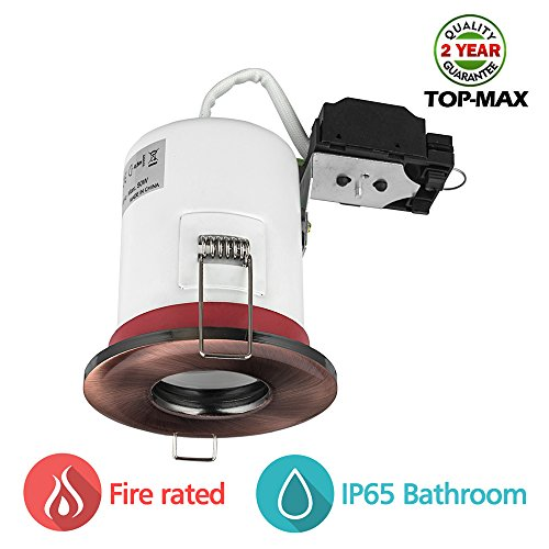 top-max-ip65-gu10-pack-of-1-fire-rated-downlights-without-build-in-led-waterproof-fireproof-polished