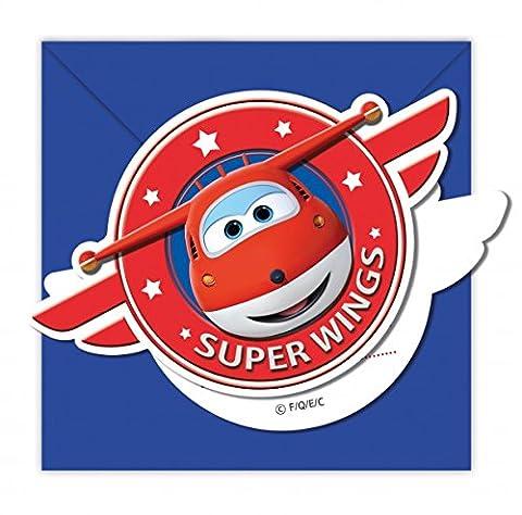 Super Wings 6 Einladungskarten