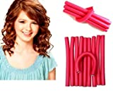 Homeoculture 10 pieces self holding Hair Curling Flexi rods Magic Air Hair Roller Curler Bendy Magic Styling Hair Sticks hair pin
