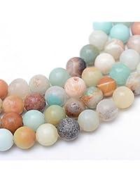 Perlin–Amazonite Perlas 10mm * a Grade * Bola Piedra Preciosa Natural Piedras G829