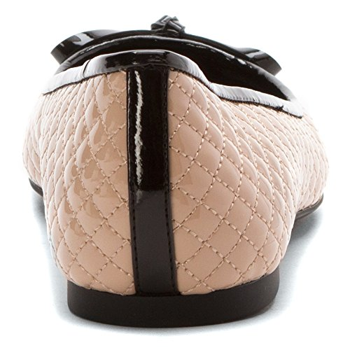 Michael Michael Kors Melody Quilted Ballet Cuir Ballerines Light Blush