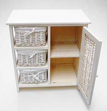 White Or Pine 3 Chest Of Drawers Bedside Table Bathroom Storage Unit Cabinet White