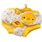 Amarillo mascota perro cachorro pañales pantalones fisiológicos sanitarias corto bragas breve ajustable