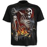 Death Reripped, gothic fantasy metal skelet heren T-shirt zwart