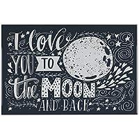 Azulejo Diversión amo la luna y la parte posterior Ceramica impreso 20x30 cm