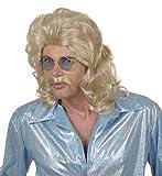 Widmann - Pe760/blond - Perruque Annees 70 Blonde Avec Moustache Luxe