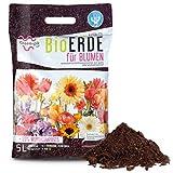 Green-PIK LAT BioERDE für Blumen - Ökologische Wurmkompost Fertigmischung I Nährstoffe für Blumen mit Bio-Humus I Kompost zur Pflege Ihrer Balkon-Pflanzen I Für Ihren Garten I 5 L Sack