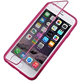 SUN-Cases & Covers Funda de cuero Flip horizontal con call id del display para el iPhone 6 plus &6s Plus ( Color : Magenta )