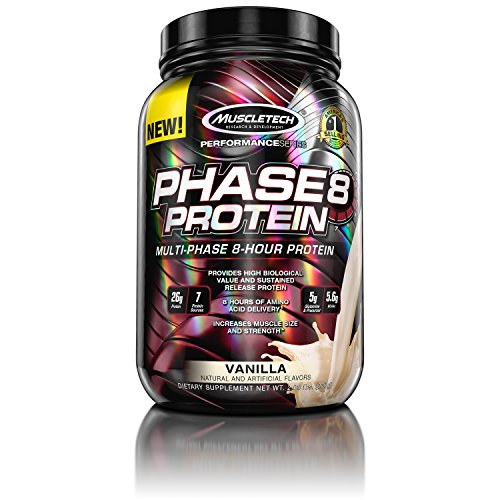 Muscletech Performance Series Phase 8 Vanilla, 924 g - 2 Lb Muskelaufbau