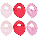 Pippi 6er Pack Baby Mädchen Halstuch, Farbe: Rosa, Pink und Rot, One Size