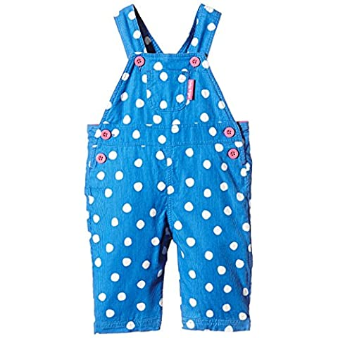 Toby Tiger - 100% Cotton cord blue dot dungarees, with height adjustable shoulder straps., Tuta unica