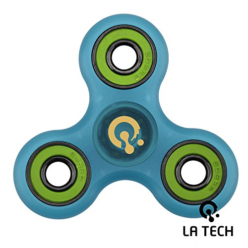 LA-TECH-Fidget-Spinner-Stress-Reducer-Toy-Perfect-For-ADD-ADHD-Anxiety-and-Autism-Adult-Kids-Clear-Blue