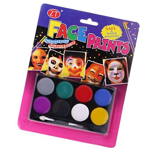 MagiDeal 8 Farbe Kinder Gesicht Körper Malerei Buntstifte Für Gesicht Körper malen, Bühnenschminke, Halloween-Party, Kinder-Partys, Sicher und Ungiftig