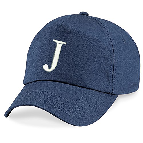 4sold Childrens Quality Cotton Summer Sun Hat New Children School Kids caps Navy Blue Hat Sport Alphabet A-Z Boy Girl Adjustable Baseball Cap