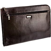 Visconti 18238 - Portadocumenti in pelle, cartellina da portare sottobraccio, formato A4, colore: nero