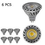 BAOMING Gu5.3 MR16 Led Lampe 12V Kühles Weiß 5W,50W Halogenlampe Äquivalent,GU 5 3 Glühlampen Kein Flimmern,Hohe Ko Energieeinsparung vertiefte Schienen-Beleuchtung LED-Glühlampen,COB led,6er Pack