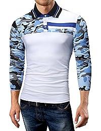 witsaye T-Shirt Manica Corta Raglan A Manica Corta con Collo Henry per Uomo. 11ddb5260775