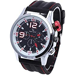 Facilla® New Fashionable Sport Quartz Mens Wrist Watch Clock Men's Watch-Silicone Wristband
