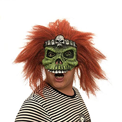 LBAFS Halloween Maske Adult Scary Ostern Maske Mit Perücke Horror Skull Requisiten Ball ()