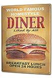 Cartel Letrero de Chapa XXL Retro G. Huber Burger Diner