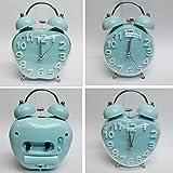 Blue Classic Bell Analog Alarm Clock (Sh...