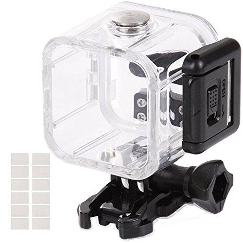 Wasserdichtes Gehäuse für Gopro Hero 4Session 5Session Kamera aoyooh Schutzhülle schwarz mit 12PCS Anit Nebel Einsätze–45M Unterwasser Diving