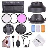 Neewer - Pack de filtros para cámaras digitales Nikon D7100 D7000 D5200 D5100 D5000 D3300 D3200 D3100 D3000 D90 D80 DSLR (52 mm)