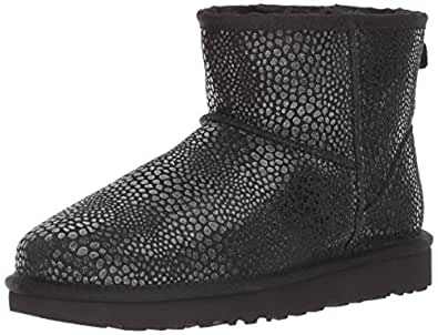 Leather boots 1019637 Mini Glitzy from UGG, Black, 10.5 UK