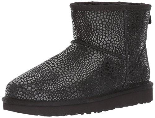UGG CLASSIC MINI GLITZY Stiefel 2018, Größe 42 EU, Farbe Schwarz (Black) (Damen Stiefel Ugg Schuhe)
