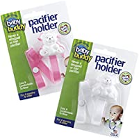 Baby Buddy Bear Pacifier Holder 2ct for 0-36 months (Pink /White) - ukpricecomparsion.eu