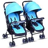 Poussette bébé Twins / Poussettes doubles Peut s'asseoir ou se coucher Peut être divisé Plié Chariot