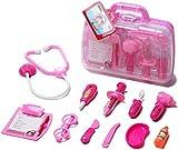 Arztkoffer Set Doktor Spielzeug Arzt Spielset für Kinder Arztköfferchen Set Doktorkoffer Spielzeug (Rosa)
