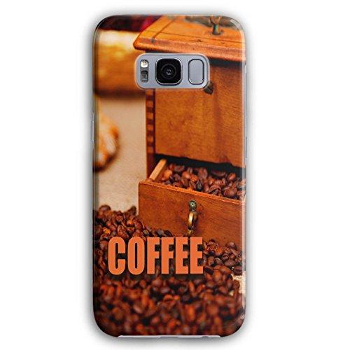 Wellcoda Kaffee Bohnen Frisch Essen 3D Galaxy S8 Plus Hülle