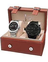 Joshua & Sons Set de 2 relojes JS40BK-JS85SSB