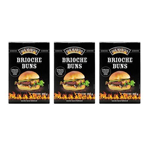DON MARCO\'S BARBECUE KS0026 Don Marco´s Barbecue Brioche Buns Backmischung 3er-Set
