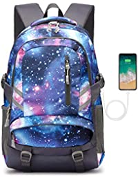School Backpack, Laptop backpack for Boys Girls Fits 15.6 inch Laptop Unisex Lightweight 30L College Rucksack Daypack with USB Charging Port for Women Men