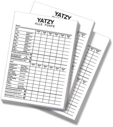 Unbekannt Nbg.-Spielkarten-Vlg. 6016 - Yatzy -extra Classic- Spielblöcke, Spiele und Puzzles, 3er Set