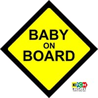 f272ef8051f BABY ON BOARD WARNING SAFETY SIGN Sticker Vinyl Decal for car vehicle window
