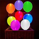 40 Stück LED Leuchtende Luftballons Blinkendes Licht - Bunte Farbe für Hochzeit, Party, Geburtstag, Festival, Weihnachten