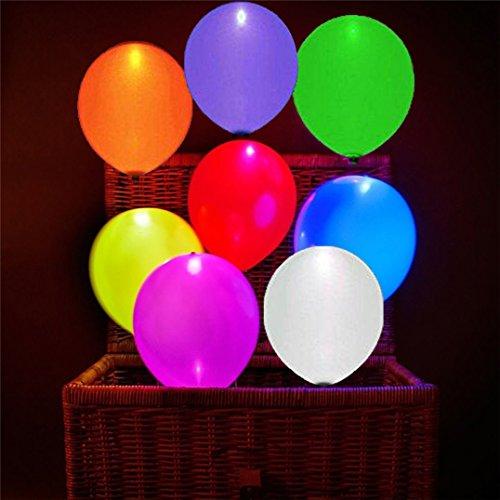 40 Stück LED Leuchtende Luftballons Blinkendes Licht - Bunte Farbe für Hochzeit, Party, Geburtstag, Festival, Weihnachten - Hohe Kapazität Licht