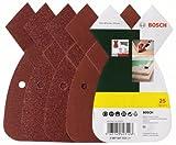 Bosch DIY 25tlg. Schleifblatt-Set verschiedene Materialien für Multischleifer (Körnung 80/120/180, 4 Löcher)